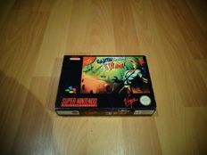 """Super Nintendo """"Earth Worm Jim"""" Fully Complete"""
