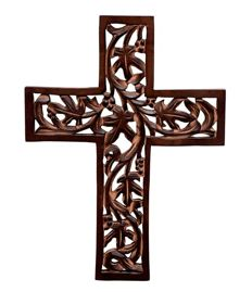 Wooden Wall Cross for Christmas religious ceremonies or house warming parties
