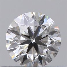 Round diamond certified GIA 0.40 ct colour G, purity VS1