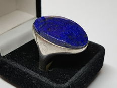 Solid ring with lapis lazuli - cut, signed - KLEIN - second half of the 20th century