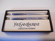 Timeless pen set by Yves Saint Laurent consisting of a fountain pen + ballpoint pen
