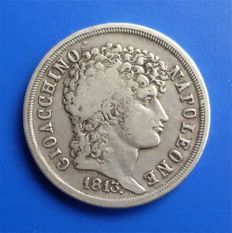 Kingdom of Two Sicilies - 2 Lira, 1813 - Giacchino Murat - silver