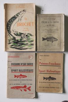 Lot with four books concerning fishery - 1893/ca. 1940