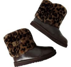 UGG 1003723k Girls Ellee Animal leather boots  - Enkellaarsjes