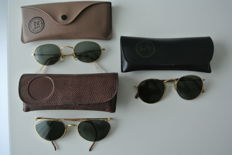 Kavel van 3 Vintage Ray-Ban Bausch en Lomb - Ray Ban 墨镜 - 复古品