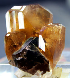 Top Quality Topaz Crystal Cluster with Smokey Quartz Specimen - 23*35*40 mm - 39gr