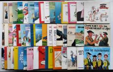 Cartoons; Lot with 50 caricatured Mondria editions - 1980/1999