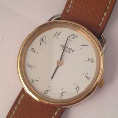 Hermès -  Arceau mens / unisex gold and steel watch - Unissexo - 1998-2005