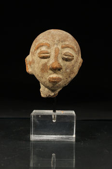 Terracotta Head (excavation) with stand-ASHANTI-Ghana