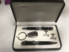 JOS VON ARX PRESTIGE set consisting of two pens, cuff links and keyring