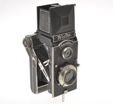 Welta Superfekta, very rare German TLR folding camera, 120 film 6x9cm exposures, with Meyer Trioplan 10cm F.3.8 and rotating back