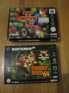2 Nintendo 64 games: Donkey Kong boxed complete with expansion pack +  Bust a Move 3 DX boxed .