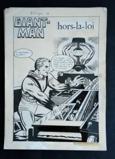 "Marvel - 17 original pages of the comic book ""Giant Man Hors la loi"" - (1974)"
