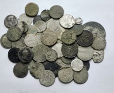 Ancient Rome, Poland, Prussia, Silesia - Set of 61 coins - silver