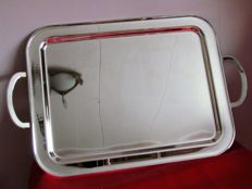 Silver plated, large serving tray, France, 3rd quarter 20th century
