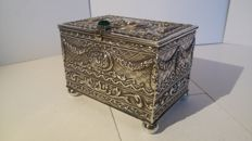 A decorated silver chest - Spain - 20th century
