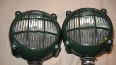 Rare Carello headlights for military vehicle or other vehicle