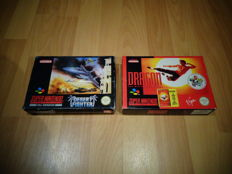 """Snes """"Dragon The Bruce Lee Story"""" & """"Desert Fighter"""" both Fully Complete, Box, Manual and inlay"""