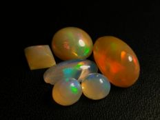 Mixed Rainbow Welo Opals - 4.2 ct