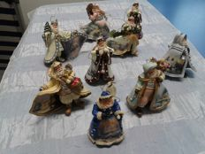 Beautiful Christmas decorations from Santa Claus Village, 9 pieces