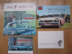 MERCURY lot de  brochures originales  Montclair, Monterey, Park Lane, Country, Meteor, Station wagons de 1957 à 1961