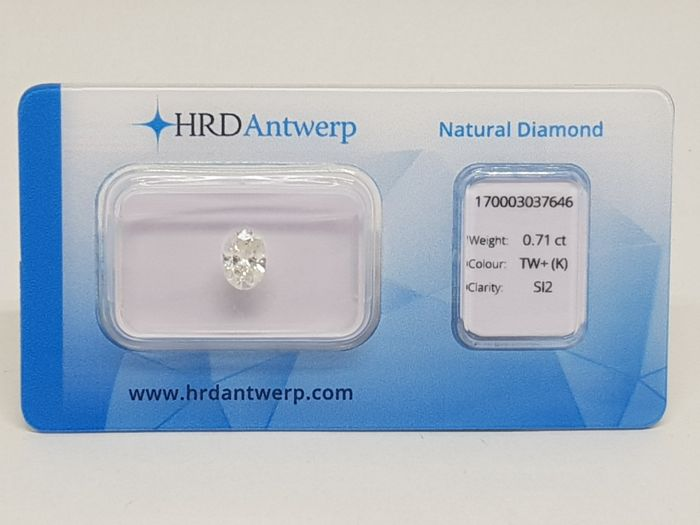 0,71 ct. Oval Cut Diamond K SI2
