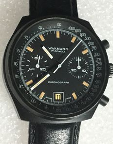 Wakmann - PVD coated case--- Valjoux Cal.234 - A total of 16,000 pieces were produced - Heren - 1970-1979