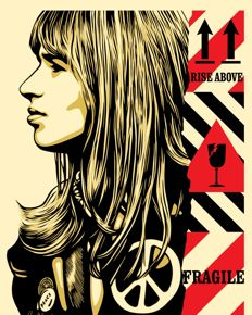 Shepard Fairey (OBEY) - Fragile Peace + 10 obey stickers