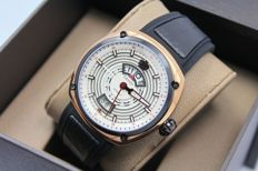 Savoy EPIC Continuous Hour - Mens - Automatic - Swiss Made - Gold Plated Watch - New & Perfect Condition
