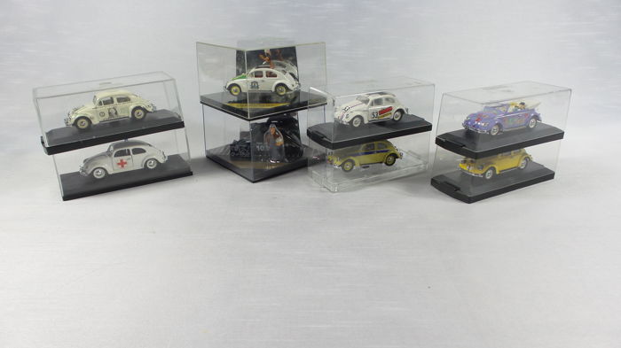 Vitesse - Scale 1/43 - Lot with 8 models: 8 x VW Beetle - Herbie & Taxi etc.