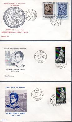 Italy, Republic, 1959/1989 – Collection of 250 envelopes including FDC, postal stationery and aerogrammes