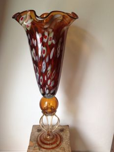 Modern tall vase, brown