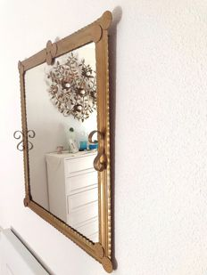 Unknown designer - Wall mirror - Iron