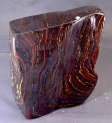 Large polished self standing Tiger Eye tumble  - 176*145*70mm - 4634g