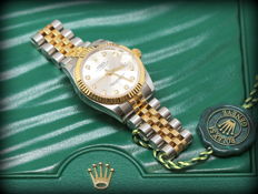 Rolex - Datejust Lady 31mm Acc.Oro Diamond 2016 Full Set - Dames - 2011-heden