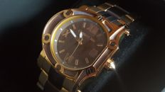 Cerruti 1881 men's watch Stainless steel rose gold / brown