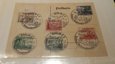 German Reich 1940 - Collection of special cancellations on stamps.