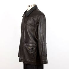 Tommy Hilfger - Heavy Leather Winter Aviator coat / jacket & Belt