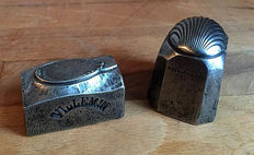 Two very beautiful antique stamps for making cutlery - ca. 1900 - France