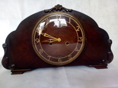 English mantel clock, Smiths Exfield (ding dong) 20th century