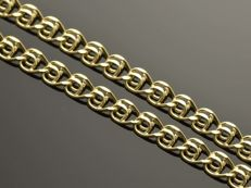 """18k Gold Necklace. Chain """"Love"""". Length 50 cm. No reserve price."""
