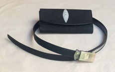 Stingray leather ladies purse with matching Stingray leather ladies belt.
