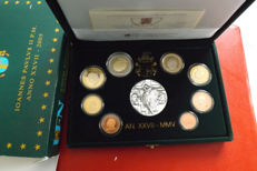 Vatican - Year pack Euro coins 2005 ´Pope John Paul II´ including silver medal