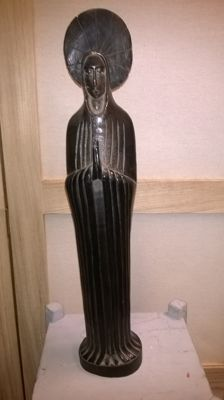 40 cm high statue of Mary, Congo, Africa, 1930, wood carving