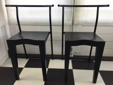 Philippe Starck fro Kartell - 2 black chairs 'Dr. Glob'