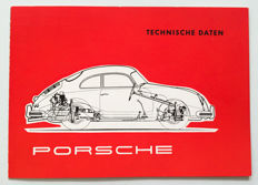 1956 Porsche brochure Technische Daten for 356A, Carrera & 550