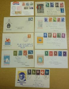 The Netherlands 1952/1975 - Collection of ± 100 FDCs