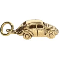 14 kt - Yellow gold pendant in the shape of a car - Length x width: 2.2 x 0.7 cm