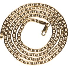 14 kt yellow gold figaro link necklace - length: 56 cm