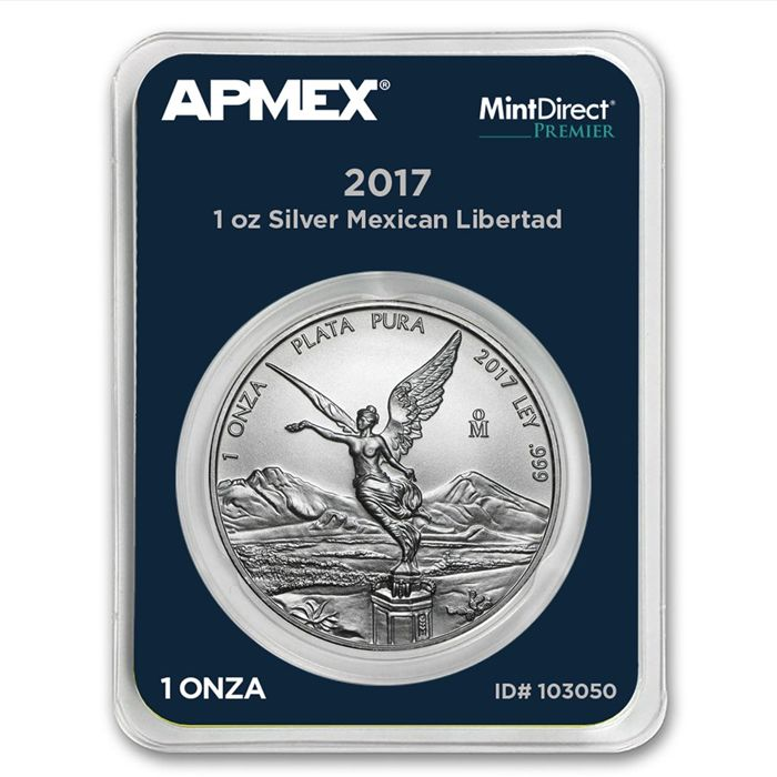 Mexico - 1 Onza 2017 'Libertad' MintDirect slap / packing - 1 oz 999 silver